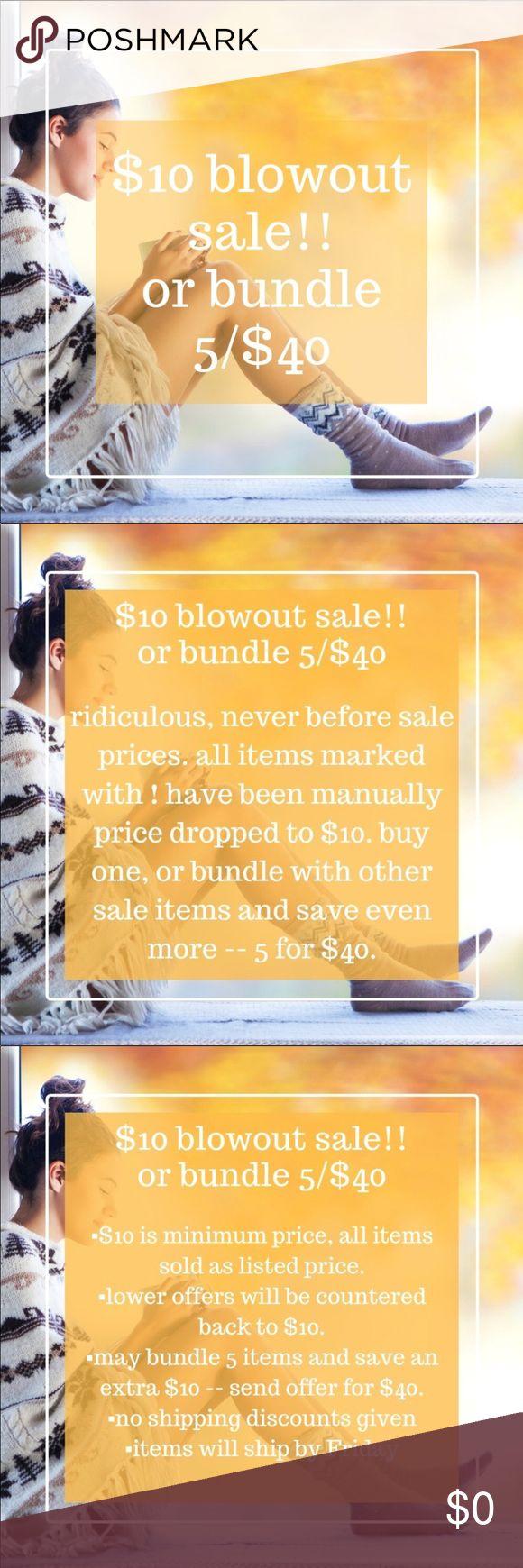 ️10 blowout sale Blowout sale, Blowout, 10 things