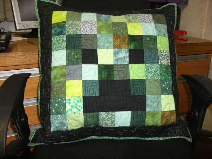DIY Minecraft creeper pillow DIY Pillowcase DIY Home DIY Decor