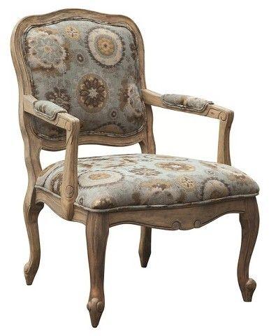 Monroe Camel Back Wood Arm Chair