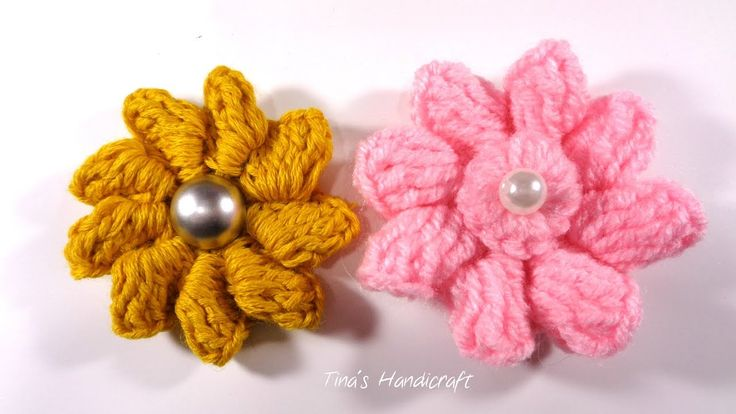 3D crochet flower No 15