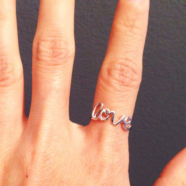 Platinum Plate LOVE Ring | The Alchemy Shop, LLC