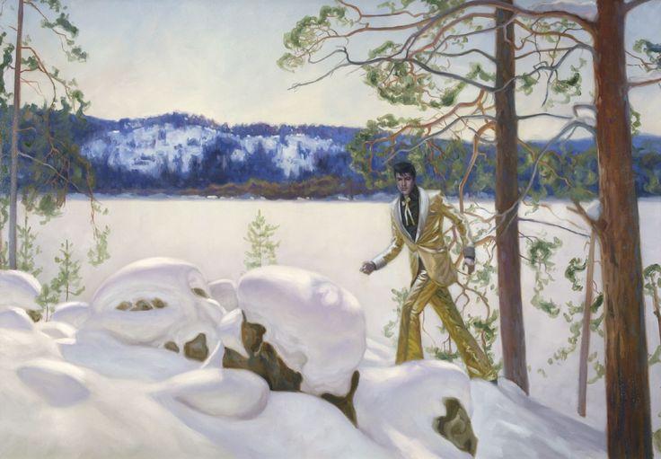 Markku Laakso - Kuvataiteilija / Visual Artist - Elvis-hahmo rikkoo perinteisen suomikuvan