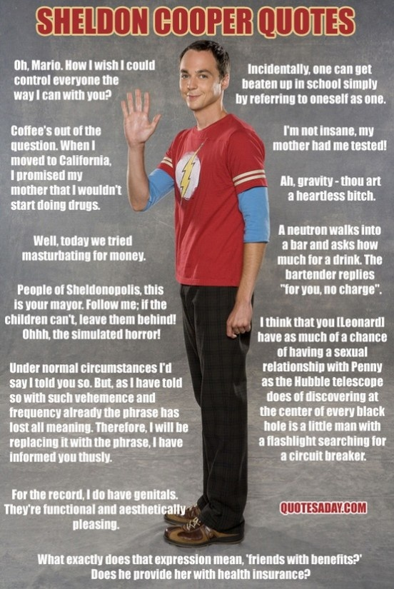Sheldon Cooper Quotes - Big Bang Theory