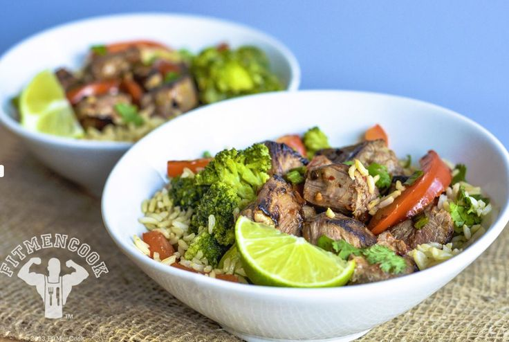 Spicy Beef Broccoli Bowl // super fast, only takes 15 minutes via Fit Men Cook #healthy #protein