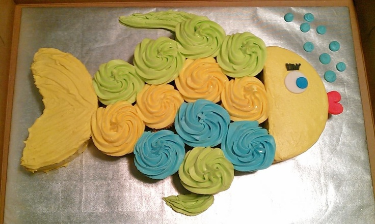 Adorable fish pull apart cake from Cakes By Diana in Charlotte NC