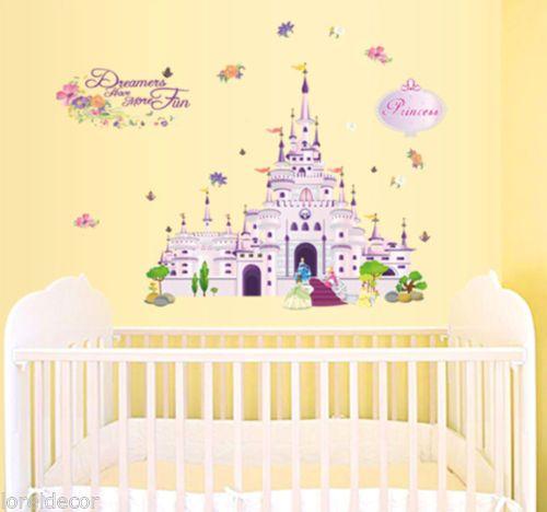 pegatinas infantiles disney vinilo infantil castillo princesas pegatina mural convierta el cuarto de su pequeo