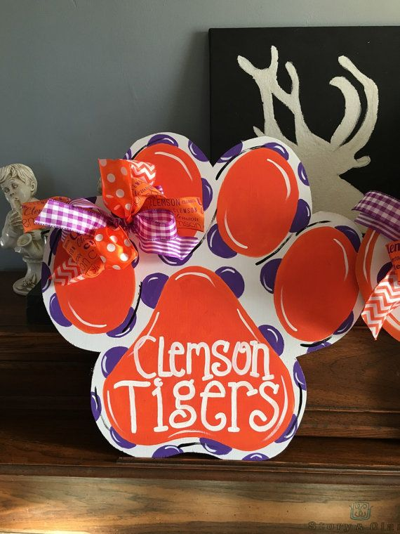 Clemson Tiger Paw By TheeAlleyKat On Etsy