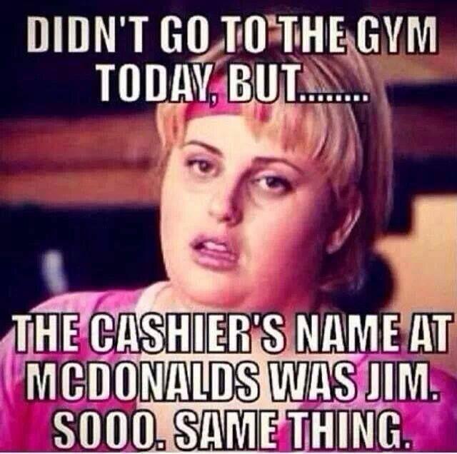 Close enough- Gym vs Jim Celebrity, Funny, Gym, Mc Donalds, McDonald's