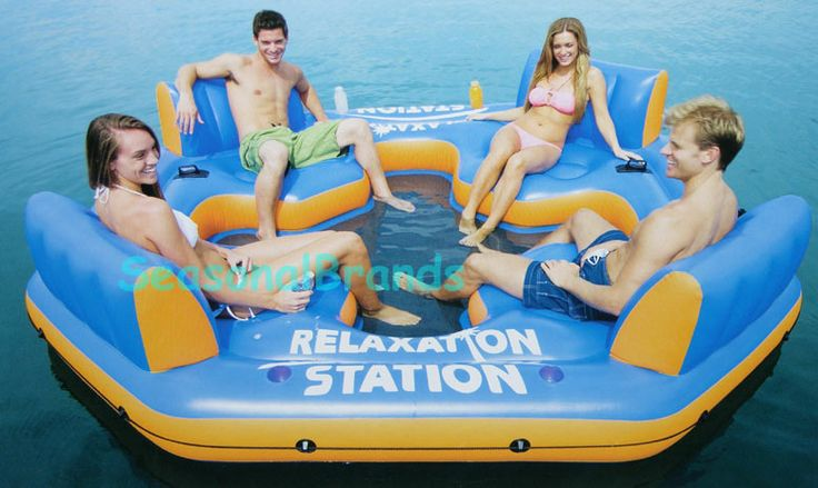water flotation toys | Details about Floating Lake Inflatable Island Raft Water Lounger Toy