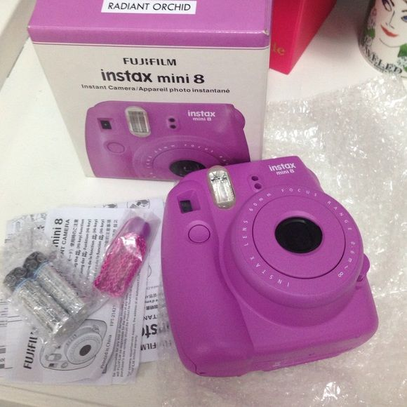 NWT RADIANT ORCHID FUJIFILM INSTAX MINI 8 camera Brand new in box INSTAX mini 8 comes with batteries and strap.. Film not included Fujifilm Other