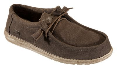 Hey Dude Wally Canvas Shoes for Men - Chocolate - 11M