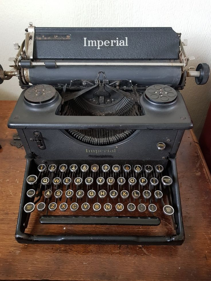 The latest Virtuadmin typewriter, an Imperial 50 War