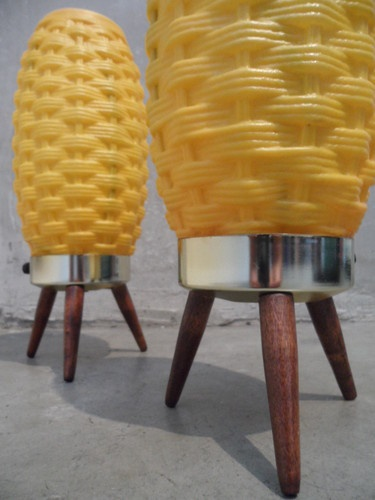 Mid Century Retro Beehive Bubble Lamps Googie Wonderland