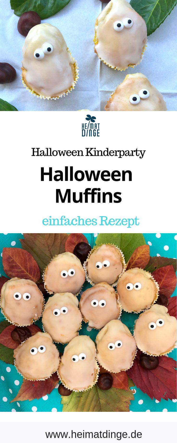 Halloween Rezepte für Kinderparty leckere Gespenster