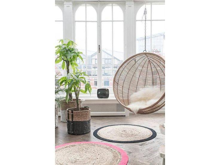 HK-Living Rotan hanging ball chair natural