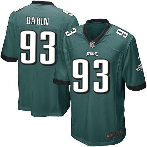 Nike NFL Philadelphia Eagles #93 Jason Babin Limited Youth Midnight Green Team Color Jersey Sale