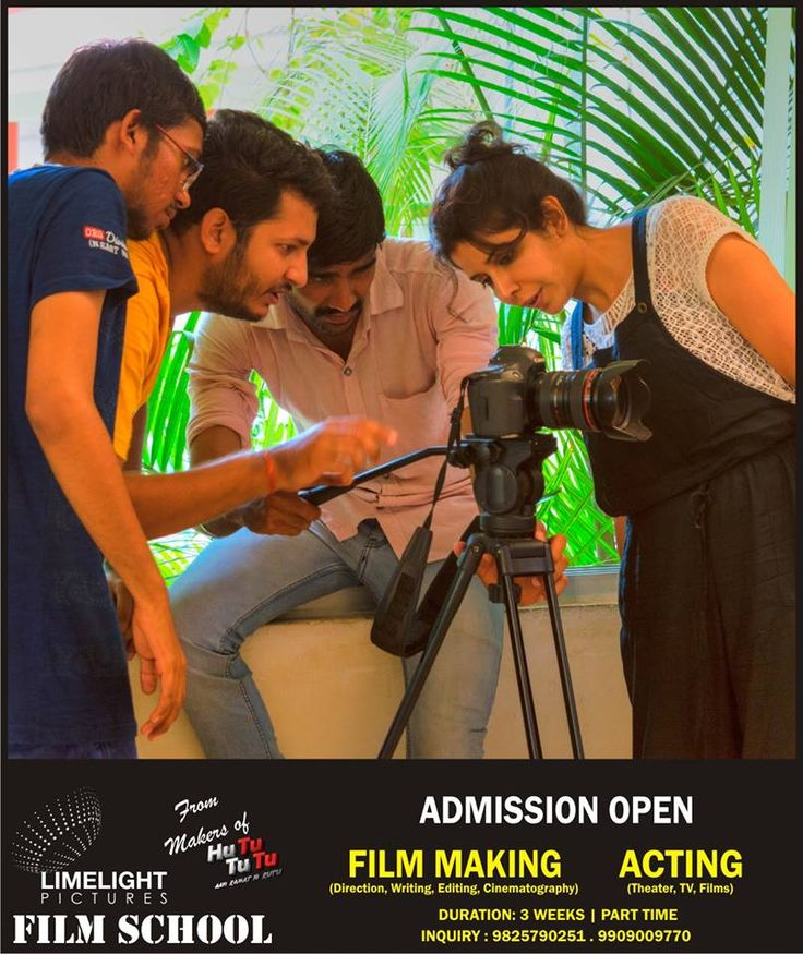 Admissions open for the 3rd batch of Acting & Film Making Courses! Batch starts January 2017! For inquiry: 9825790251 or 9909009770 Limelight Pictures Film School Address: Icecd campus, E-1/41, Lane 11C, Sterling City, Bopal, Ahmedabad