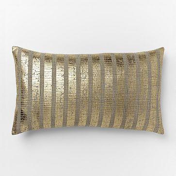 Metallic Sovereign Stripe Pillow Cover