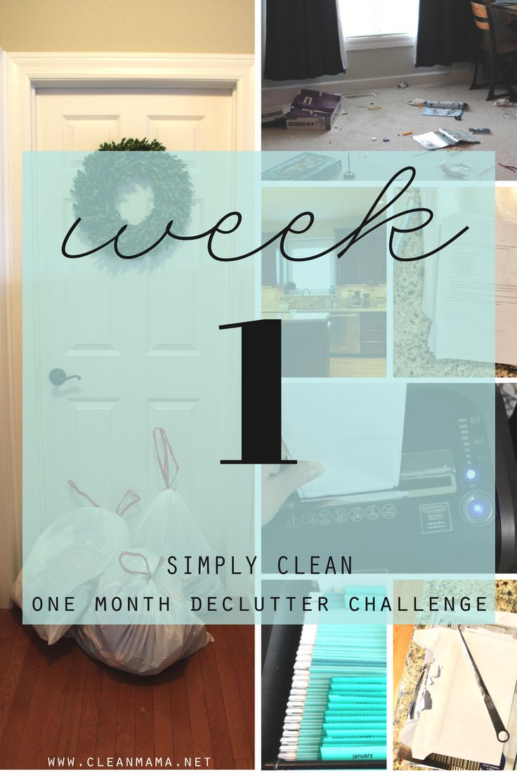 Ready to get your whole home decluttered in a month? Here is the recap for week one!