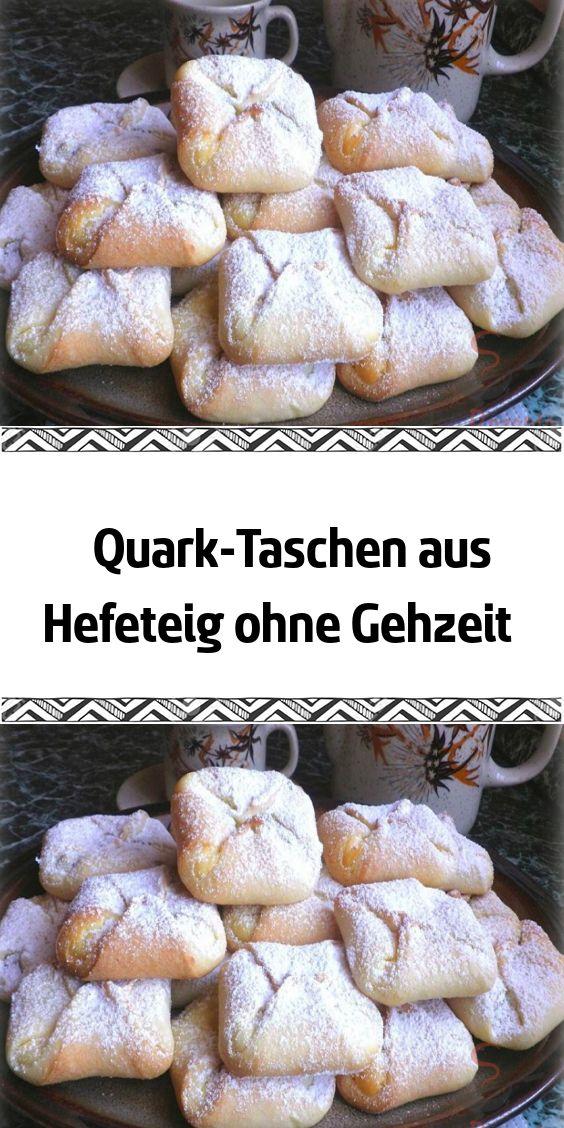 Quark-Taschen aus Hefeteig ohne Gehzeit