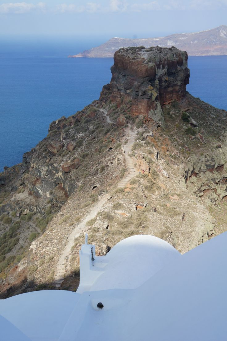When in Santorini, make sure to hike on Skaros Rock for amazing views of the Caldera!