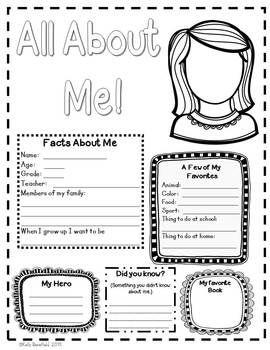 all about me (concept, questions) | teachers pay teachers
