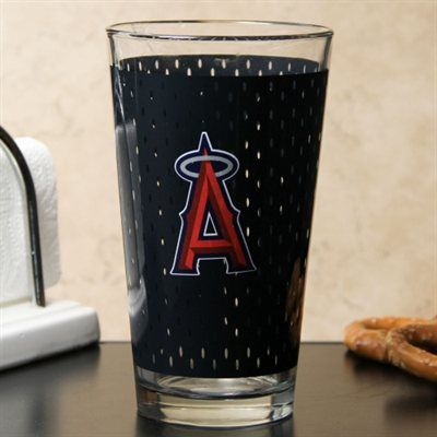 Los Angeles Angels of Anaheim 17oz. Jersey Mixing Glass - Black