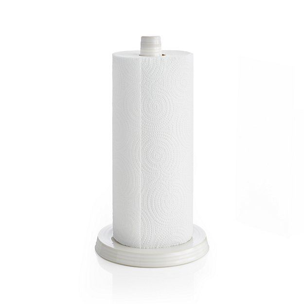 Farmhouse White Paper Towel Holder Crate And Barrel Towel Holder Paper Towel Ceramic Paper Towel Holder