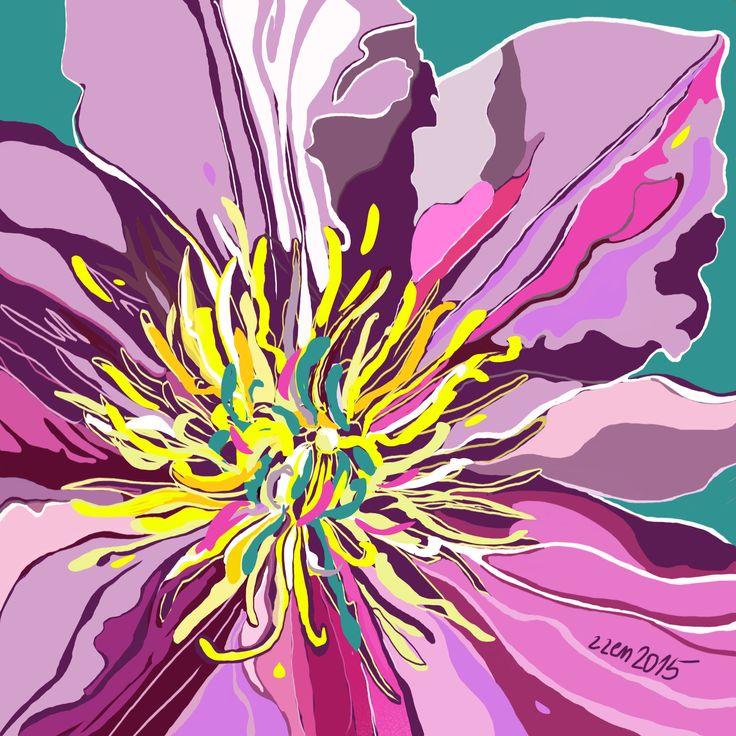 Flower in #Procreate app. iPad painting