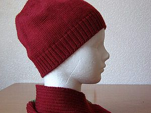 Вяжем шапочку клиньями на машине   Ярмарка Мастеров - ручная работа, handmade