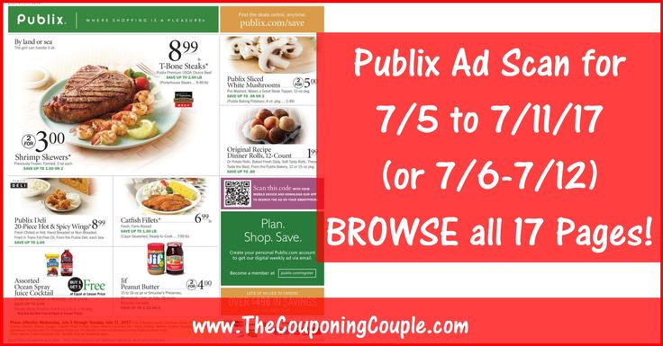 Anybody want to BROWSE the actual upcoming Publix Ad Scan? Here is the PUBLIX AD SCAN FOR 7/5 to 7/11/17 (7/6-7/12) ~ ALL 17 PAGES Click the Picture below to BROWSE the Publix Ad Scan ► http://www.thecouponingcouple.com/publix-ad-scan-for-7-5-to-7-11-17/  Visit us at http://www.thecouponingcouple.com for more great posts!
