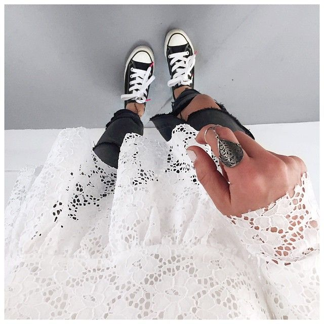 Lace Top #mademoiselled (on @mademoiselled.paris) • Ring #cecilepic (on @shopinsidecloset)