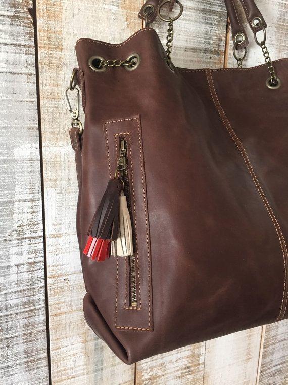 Lederen tas Oversize crossbody zak vrouwen portemonnee door Percibal