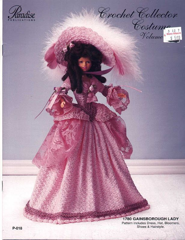 Barbie, Crochet Collector Costume Vol. 8 pattern http://knits4kids.com/collection-en/library/album-view?aid=2197
