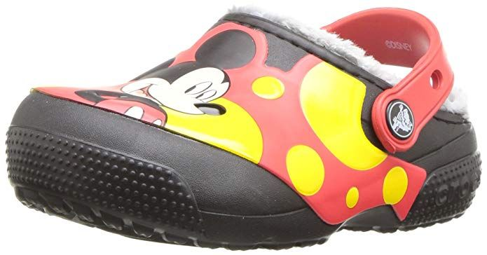 CC Mickey Lined Clog K Toddler//Little Kid Crocs CC Mickey Lined Clog