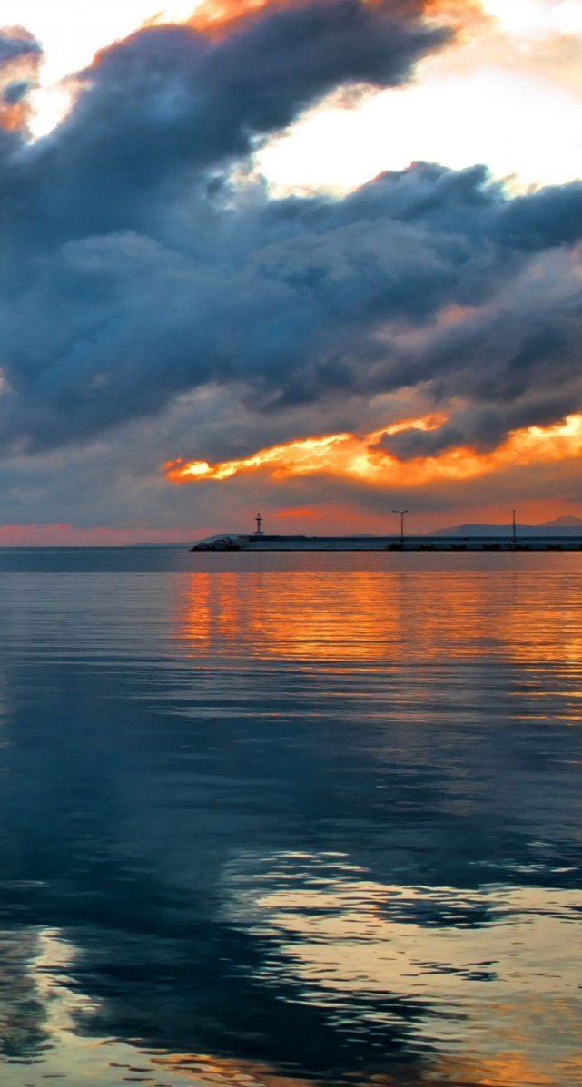Sunset in Rethymno, Crete, Greece