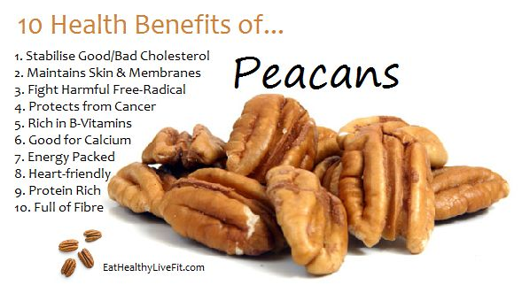 The Health Benefits of Pecans | Eating Healthy & Living Fit | EatHealthyLiveFit.com