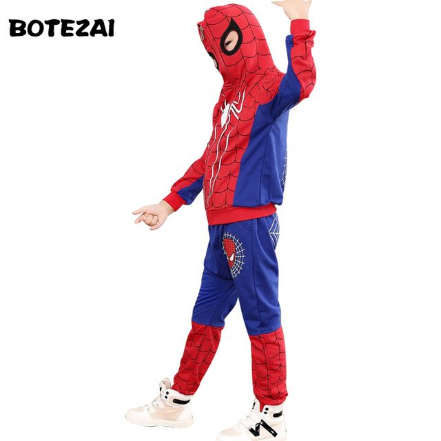 Best Offer $9.88, Buy New Spiderman Baby Boys Clothing Sets Cotton Sport Suit For Boys Clothes Spring Spider Man Cosplay Costumes KIds Clothes Set