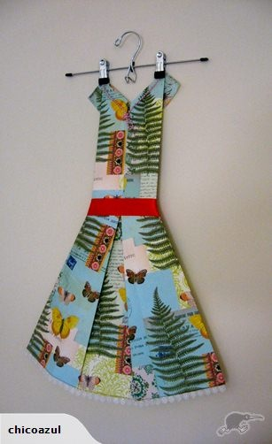 Folded Paper Dress Art - Flora n Fauna