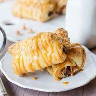 День Завтрак легкий мамы: шоколадные Ириски круассаны