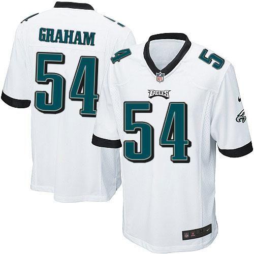 Nike NFL Philadelphia Eagles #54 Brandon Graham Limited Youth White Road Jersey Sale