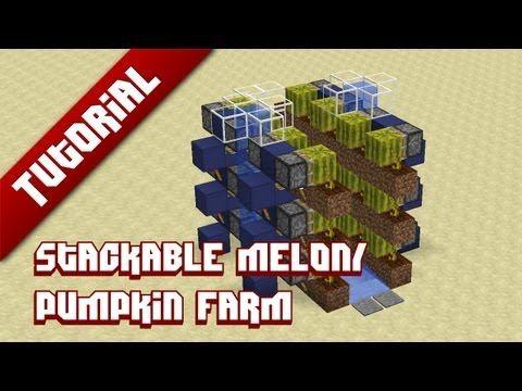 ▶ Minecraft Tutorial: Stackable melon/pumpkin farm - YouTube