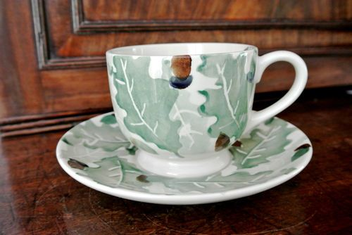Emma Bridgewater OAK LEAVES large cup and saucer 2000