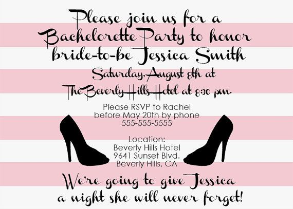 Custom Beverly Hills Hotel Themed Bachelorette Party Invitations OR Surprise Party Invitations - Printable Invitations - Print Your Own #invitations #printableinvitations #bacheloretteparty