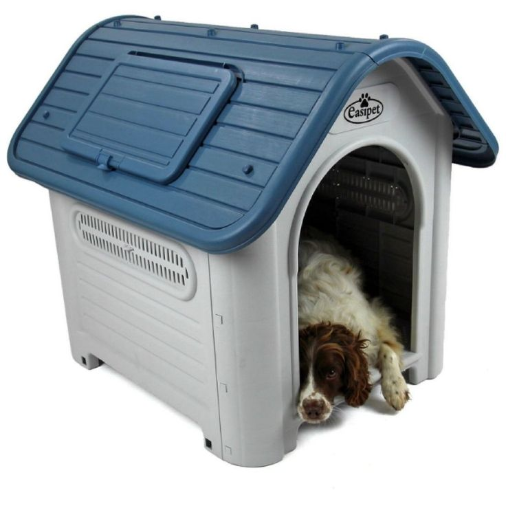 Plastic Dog Kennel Pet House Weatherproof Outdoor Durable Animal Shelter Garden_ #EasipetCollection