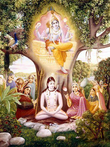 Lord Shiva is always meditating upon the lotus eyed Lord Vishnu.