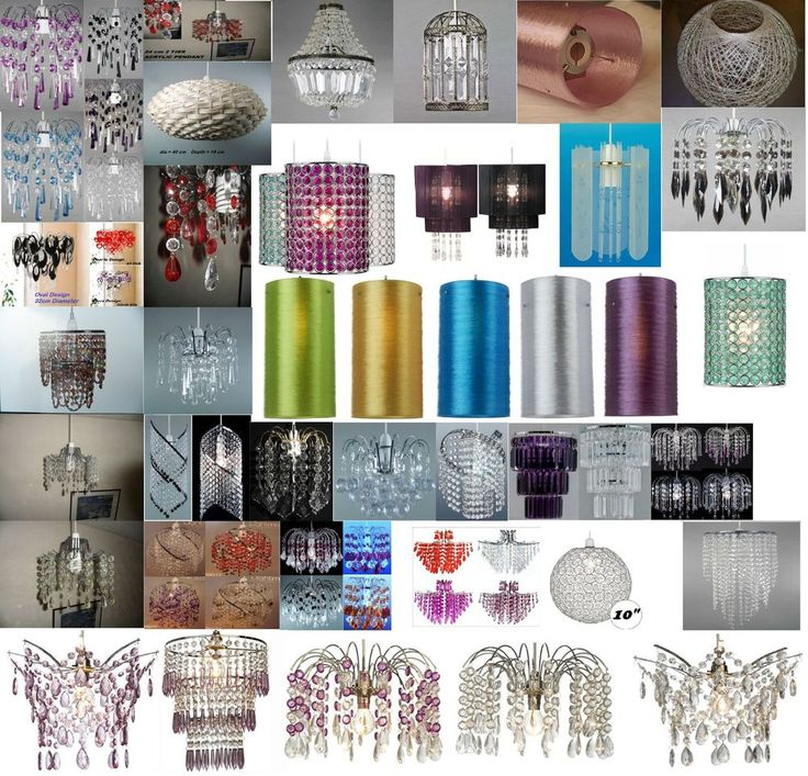 Ceiling Lights Chandeliers Pendants Chrome Light/Lamp Shade Droplet Easy Fitting