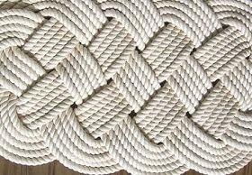 Coastal Inspired Decor and Craft Ideas - DIY Nautical Rope Rug