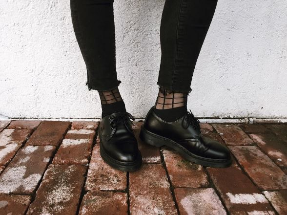 Docs and Socks: The 1461 Mono shoe, shared by brainchild_project.