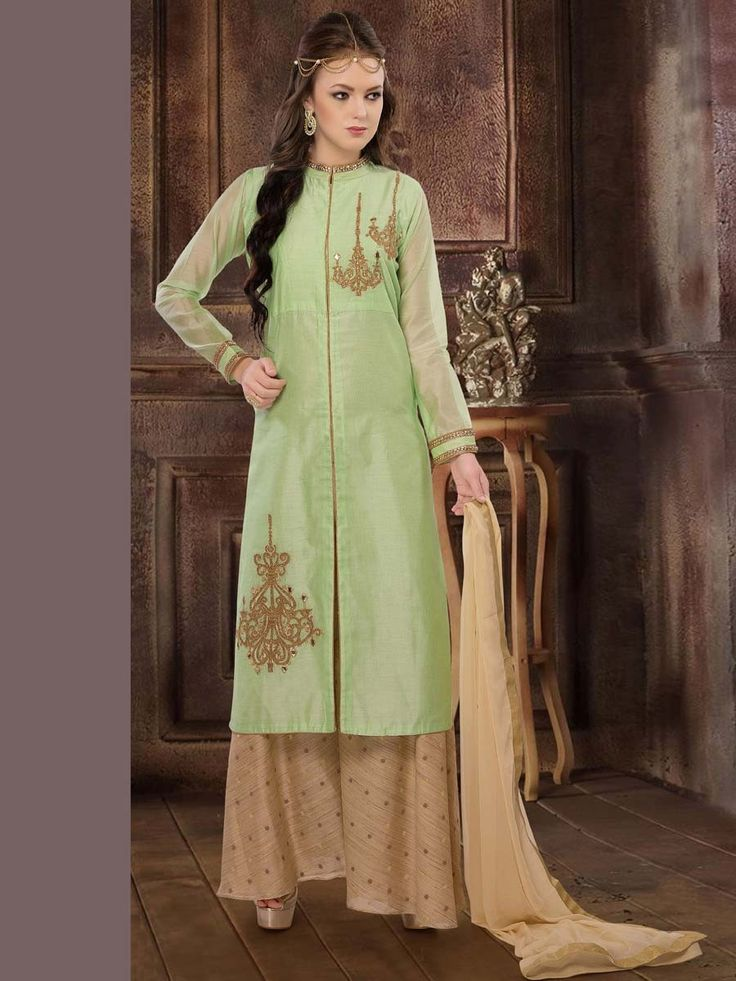 Dazzle and excite with this truly gorgeous outfit. Item Code: SLUM06 http://www.bharatplaza.com/women/readymade-suits.html.